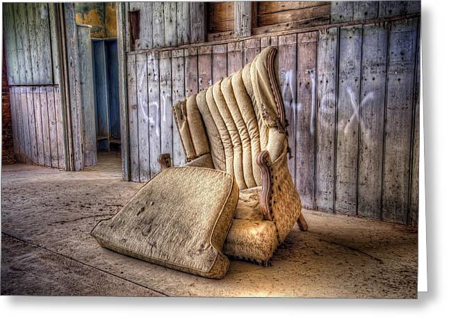 Cushion Photographs Greeting Cards - Lonely Chair Greeting Card by Scott Norris