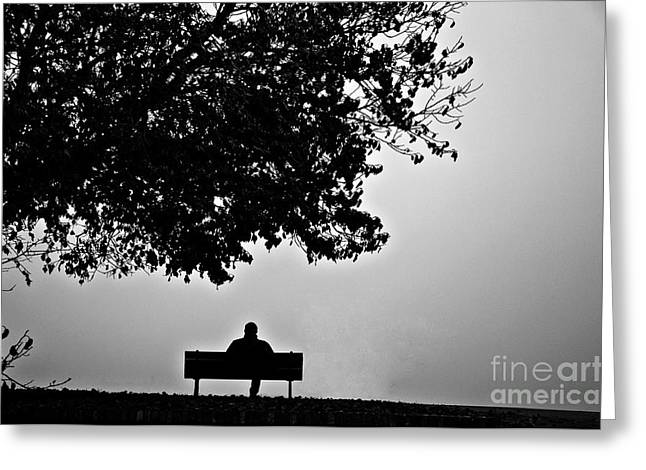 Lonely Days Greeting Card by Uros Zunic