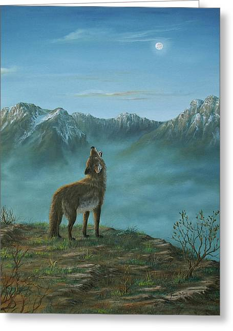 Original Art Greeting Cards - Lonely Lament Greeting Card by Fawn McNeill