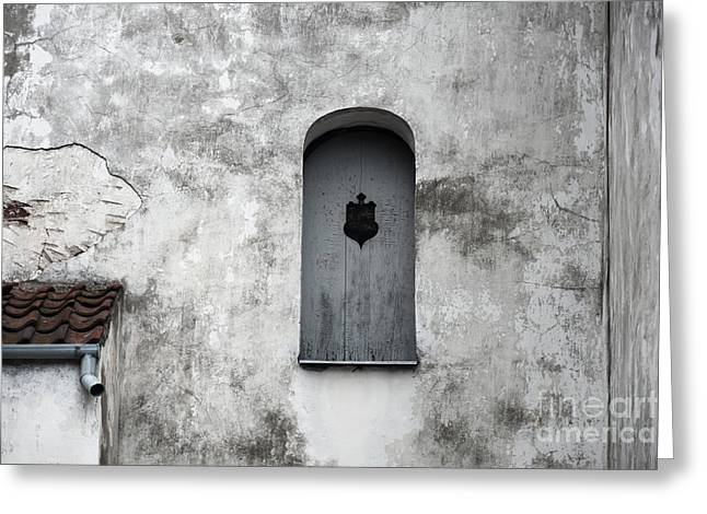 Wooden Building Greeting Cards - Lonely Window Greeting Card by Agnieszka Kubica