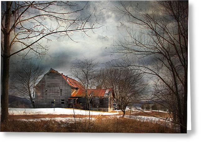 Dilapidated Greeting Cards - Long Ago Greeting Card by Lori Deiter