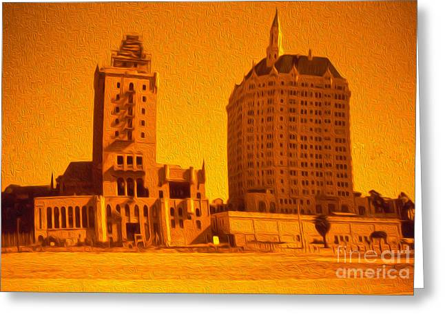 Long Beach Greeting Card by Gregory Dyer