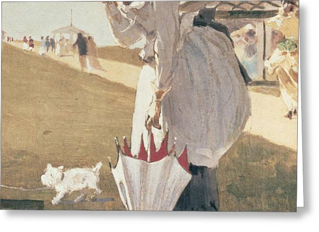 Long Branch Greeting Card by Winslow Homer