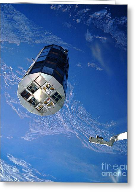 Grapple Greeting Cards - Long Duration Exposure Facility Ldef Greeting Card by Nasa