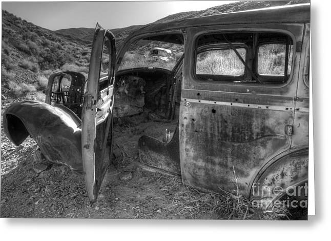 Forgotten Cars Greeting Cards - Long Forgotten Greeting Card by Bob Christopher