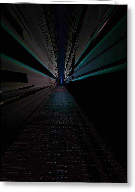 Gt Greeting Cards - Long Hallway Greeting Card by Gt