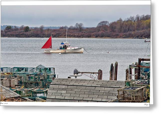 Lobster Post Greeting Cards - Long Island Maine Greeting Card by Richard Bean