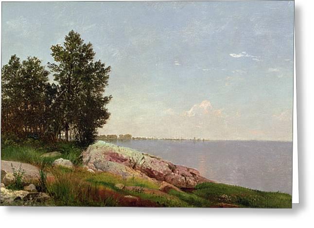 Long Island Sound at Darien Greeting Card by John Frederick Kensett