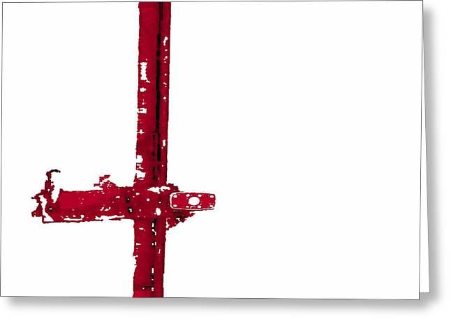 Long Lock in Red Greeting Card by J erik Leiff