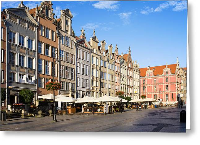 Recently Sold -  - Polish Culture Greeting Cards - Long Market in Gdansk Greeting Card by Artur Bogacki