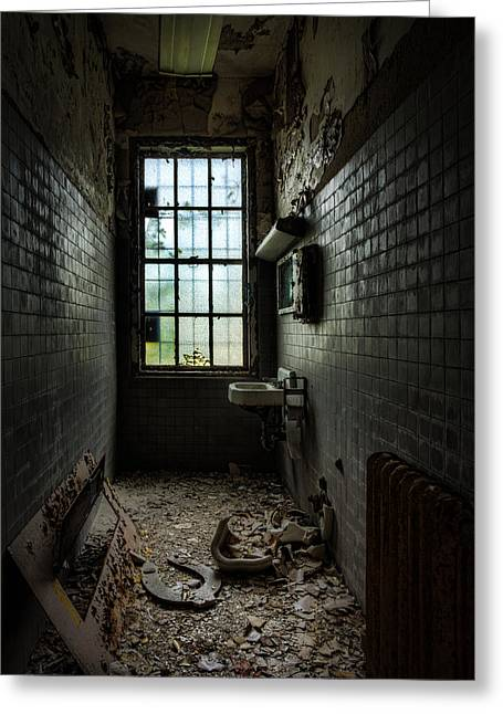 Abandonment Greeting Cards - Long Narrow Lavatory Greeting Card by Gary Heller