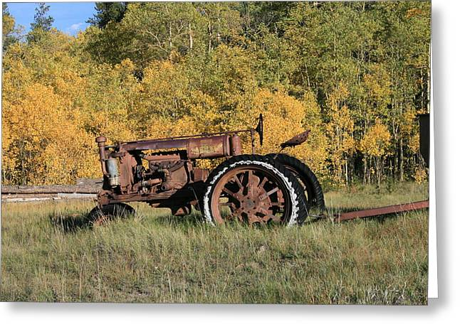 Long Retired Greeting Card by Mark Sacco