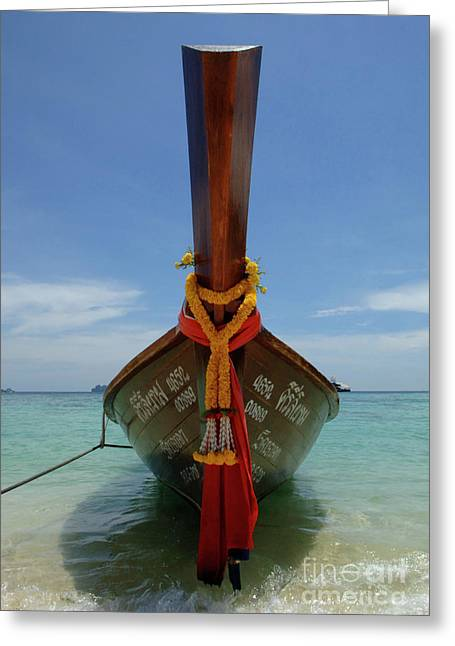 Phuket Greeting Cards - Long Tail Boat Thailand Greeting Card by Bob Christopher