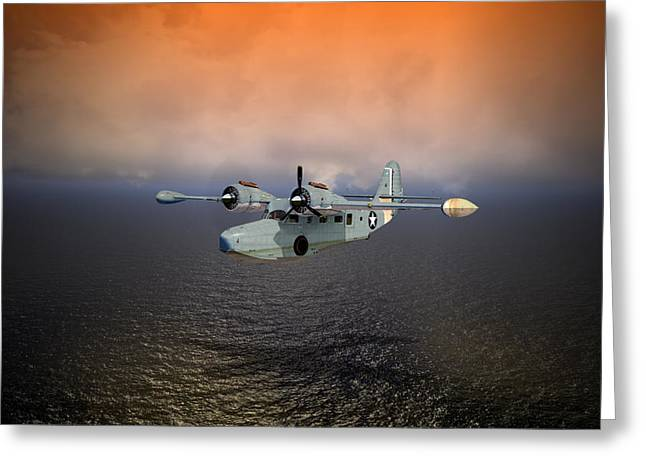 Naval Aviation Greeting Cards - Long Trip Home Greeting Card by Mike Ray