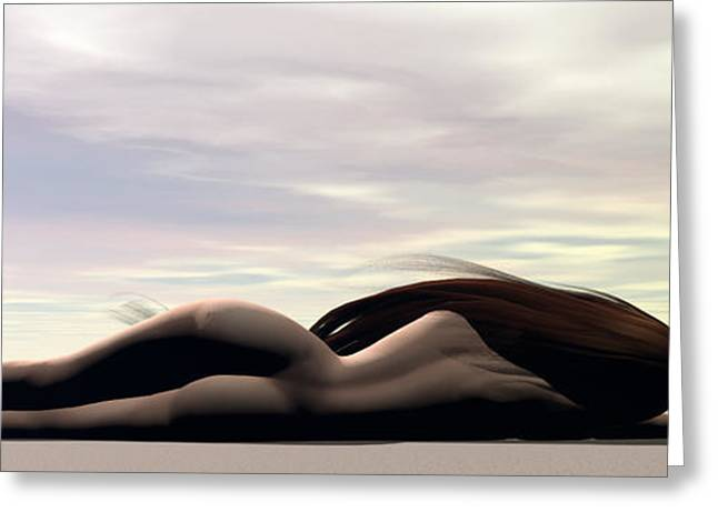 Female Body Greeting Cards - Longing Greeting Card by Sandra Bauser Digital Art