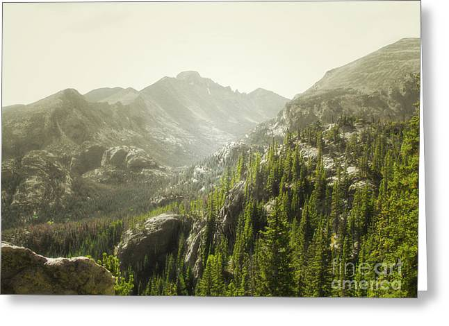 Rocky Mountains Greeting Cards Greeting Cards - Longs Peak Majestic Greeting Card by Andrea Hazel Ihlefeld