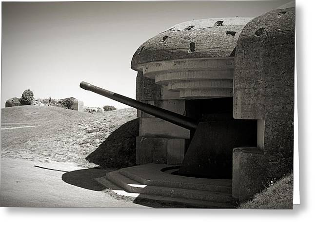 Calvados Greeting Cards - Longues-sur-Mer German battery Greeting Card by RicardMN Photography