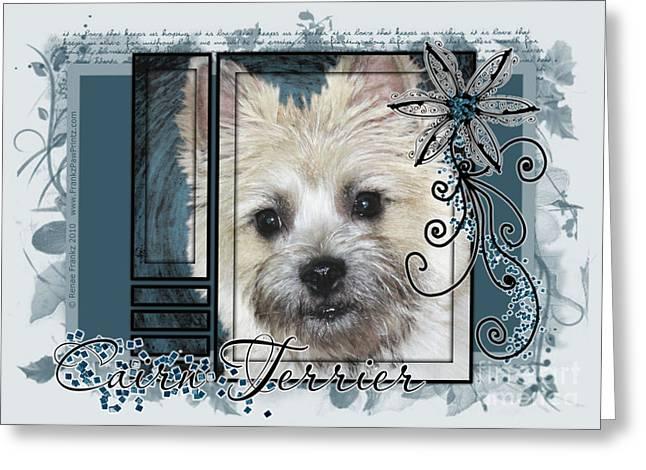 Look In Her Eyes - Cairn Terrier Greeting Card by Renae Laughner