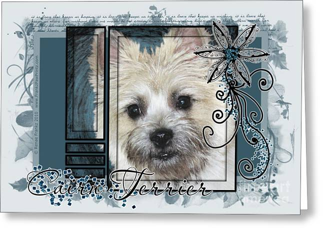 Look in Her Eyes - Cairn Terrier Greeting Card by Renae Laughner