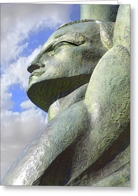 Sculptures Sculptures Greeting Cards - Look to the Sky - L Greeting Card by Mike McGlothlen