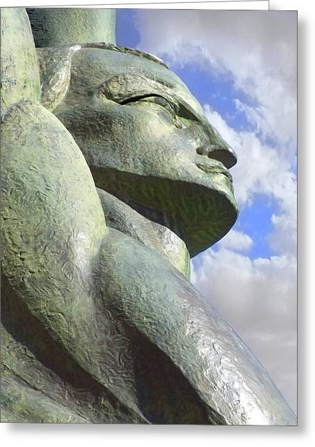 Sculptures Sculptures Greeting Cards - Look to the Sky - R Greeting Card by Mike McGlothlen