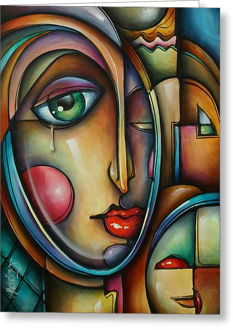 Look Two Greeting Card by Michael Lang
