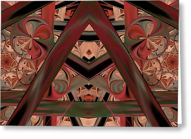 Geometric Design Greeting Cards - Look Within - Abstract Greeting Card by Georgiana Romanovna