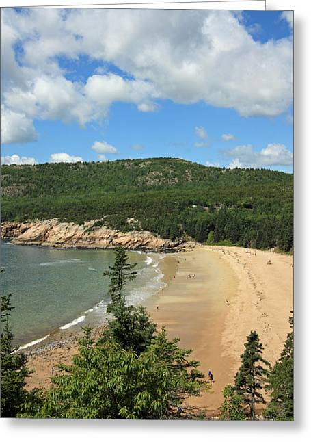 Maine Beach Greeting Cards - Looking Across Greeting Card by Becca Brann