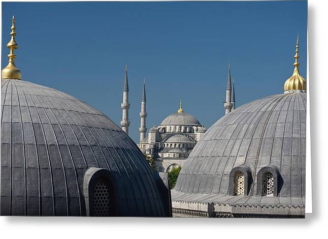 Decoration Day Greeting Cards - Looking Across The Domed Rooves Greeting Card by Axiom Photographic