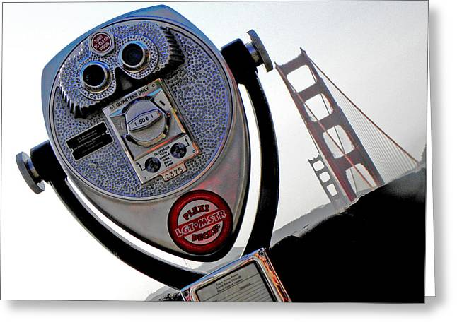 Famous Bridge Greeting Cards - Looking at the Golden Gate Bridge one Greeting Card by Elizabeth Hoskinson