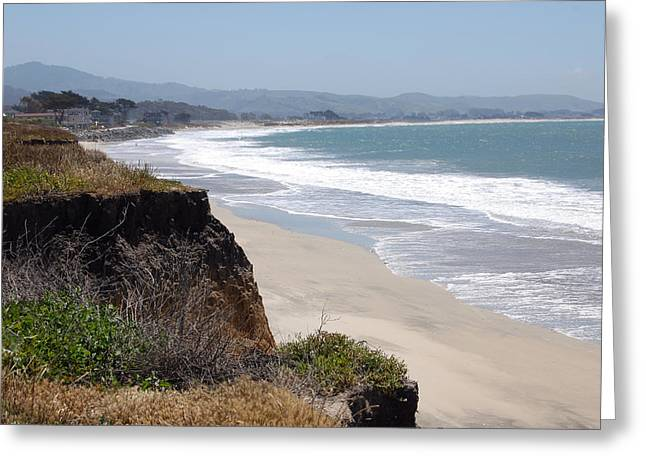 Recently Sold -  - Half Moon Bay Greeting Cards - Looking Back at Half Moon Bay From the North Greeting Card by Carolyn Donnell