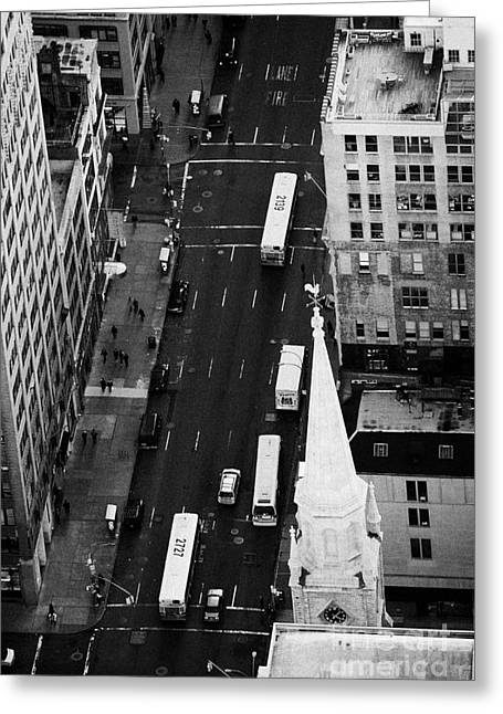 5th Ave Greeting Cards - Looking Down On 5th Avenue New York City Greeting Card by Joe Fox