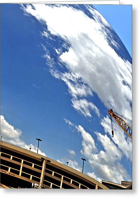 Building Crane Greeting Cards - Looking Down Greeting Card by William Jones