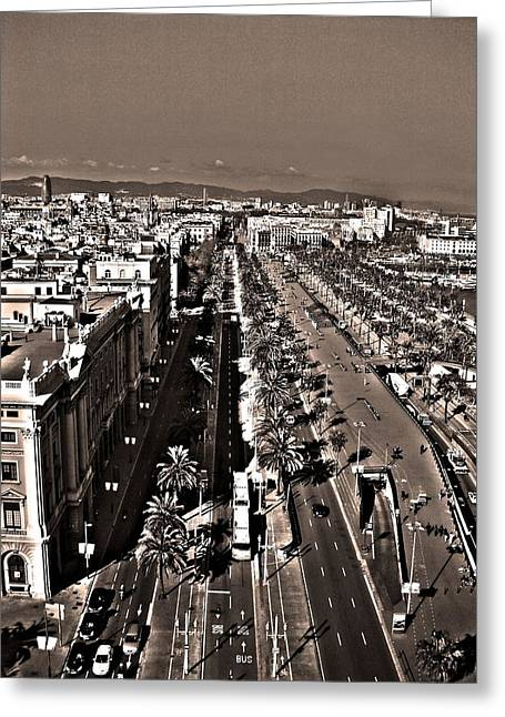 Barceloneta Greeting Cards - Looking East ... Greeting Card by Juergen Weiss