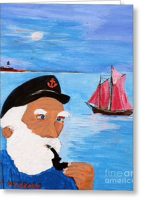 Bill Hubbard Greeting Cards - Looking for his Ship to Come in Greeting Card by Bill Hubbard