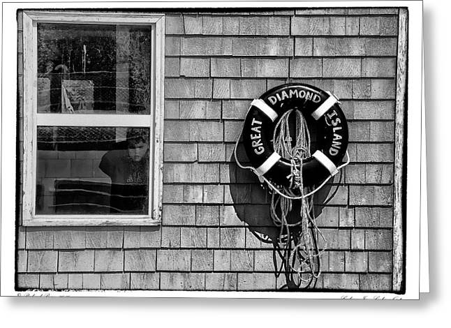 Recently Sold -  - Coastal Maine Greeting Cards - Looking In - Looking Out Greeting Card by Richard Bean