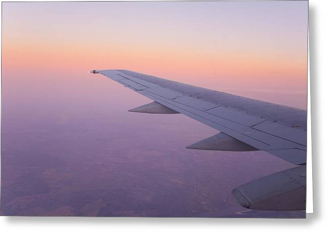 Paraguay Greeting Cards - Looking Out And Airplane Window Greeting Card by Mike Theiss