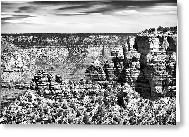 The Grand Canyon Greeting Cards - Looking South Greeting Card by John Rizzuto