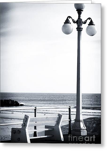 Down The Shore Greeting Cards - Looking to the Sea Greeting Card by John Rizzuto
