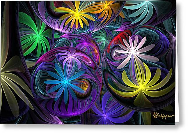 Best Sellers -  - Not In Use Greeting Cards - Loonie Flowers Greeting Card by Peggi Wolfe