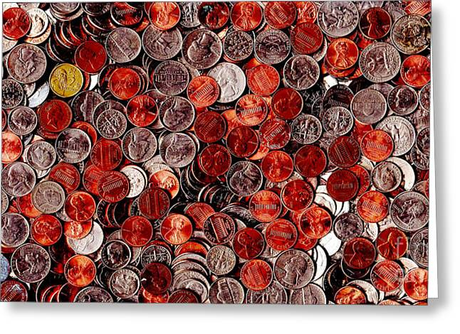 Loose Change . 2 to 1 Proportion Greeting Card by Wingsdomain Art and Photography