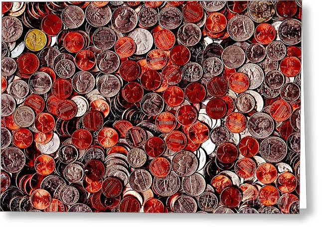 Loose Change . 8 to 10 Proportion Greeting Card by Wingsdomain Art and Photography