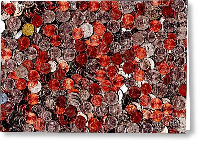 Loose Change . 8 to 12 Proportion Greeting Card by Wingsdomain Art and Photography