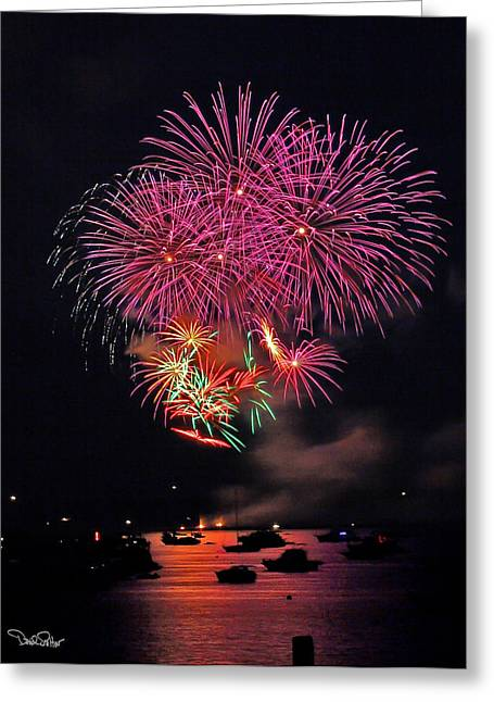 Lopez Island Fireworks 4 Greeting Card by David Salter