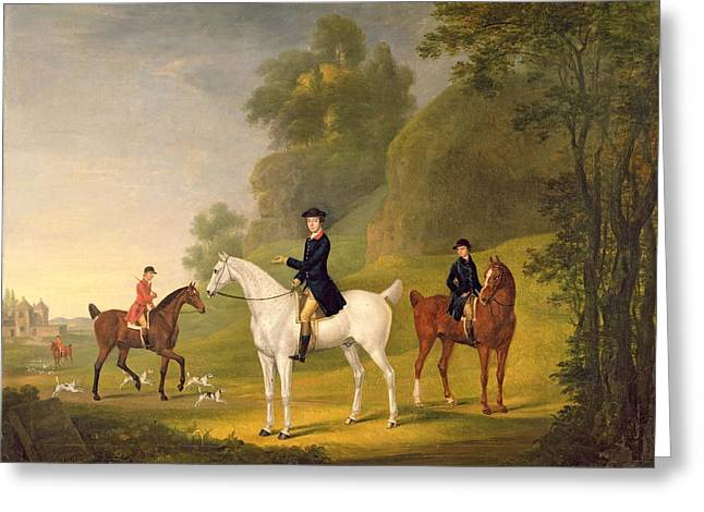 Horseback Photographs Greeting Cards - Lord Bulkeley and his Harriers Greeting Card by Francis Sartorius
