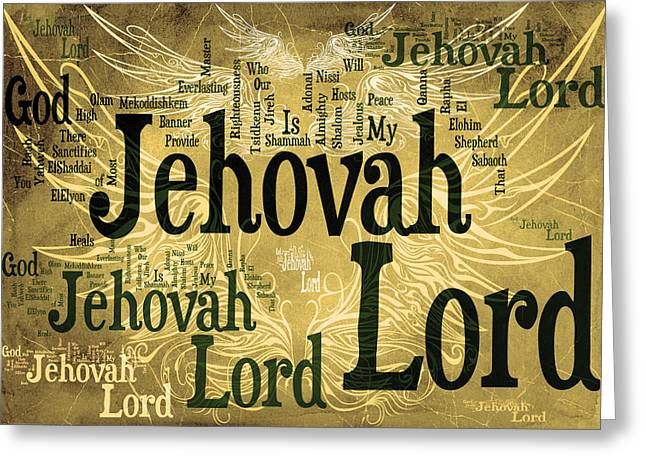 Advocate Greeting Cards - Lord Jehovah 2 Greeting Card by Angelina Vick