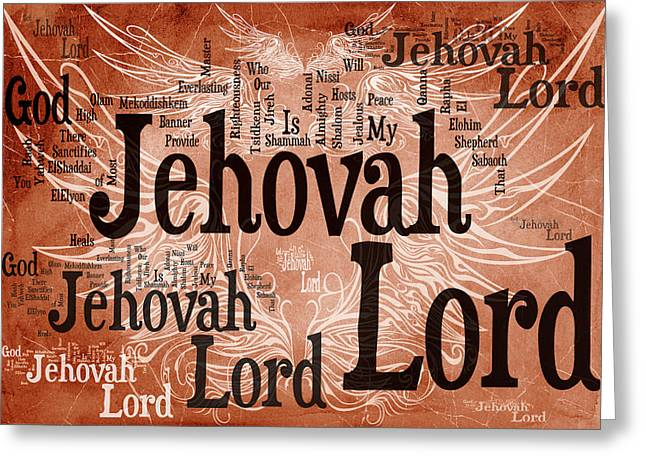 Advocate Greeting Cards - Lord Jehovah Greeting Card by Angelina Vick