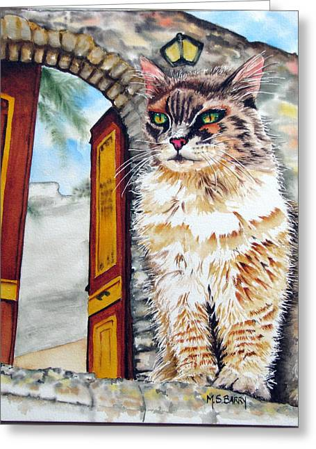 Stray Greeting Cards - Lord of The Manor Greeting Card by Maria Barry