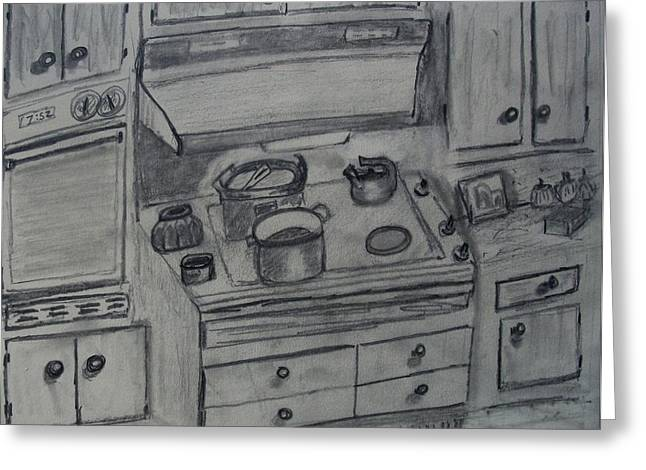 Drawers Drawings Greeting Cards - Kitchen Greeting Card by Spencer  Joyner