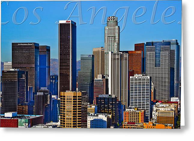 La Downtown Greeting Cards - Los Angeles Greeting Card by Kelley King